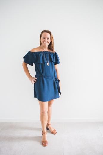 Forever New Kayleigh Bardot Ruffle Dress - $79.99
