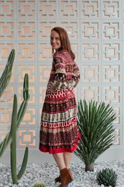 Adrift Bella Dress in Maharaja Print