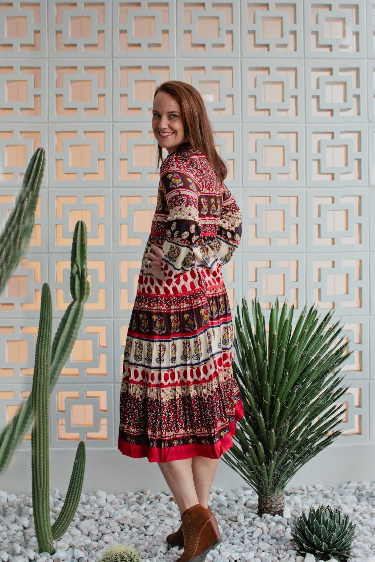 Adrift Bella Dress in Maharaja Print