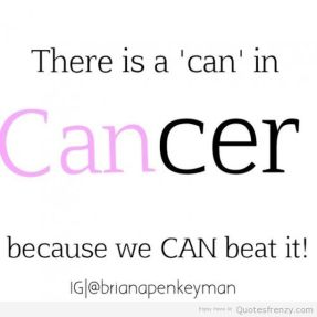 there is a can in cancer