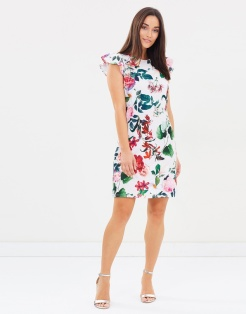 Dorothy Perkins Floral Ruffle Shift